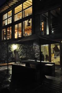 Vista esterna in notturna